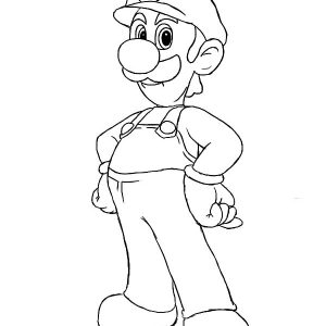The Famous Luigi Coloring Pages