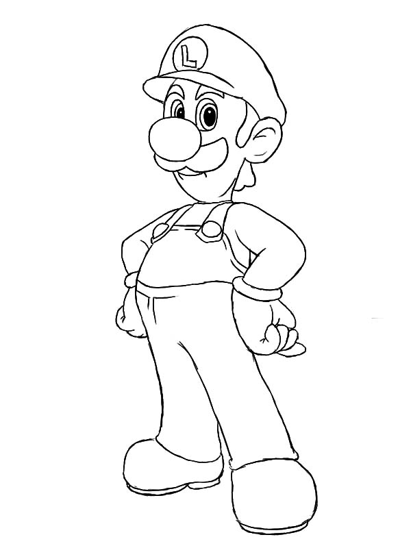 The Famous Luigi Coloring Pages Download Print Online Coloring