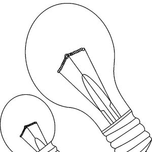 Thomas Alva Edison Light Bulb Coloring Pages