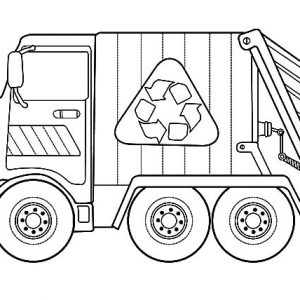 Transportation Garbage Truck Coloring Pages