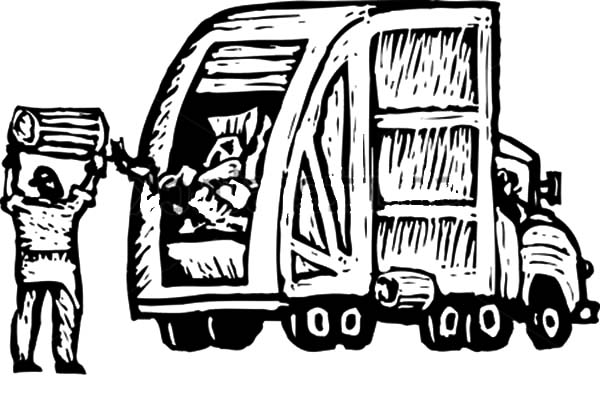 Garbage Truck Coloring Page Coloring Pages Garbage Truck Garbage ... | 401x600