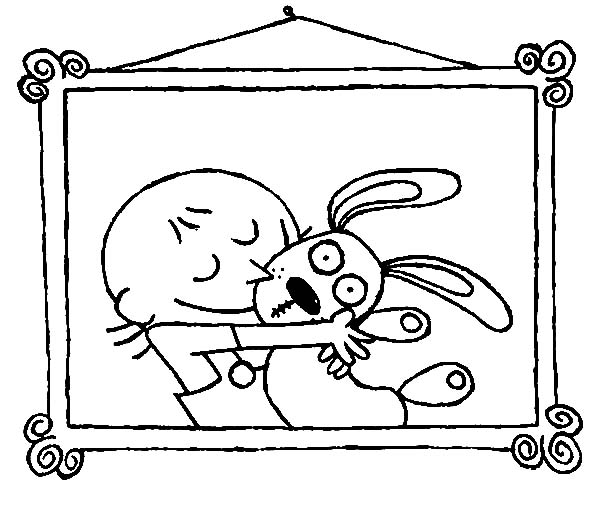 Trixie Love Her Knuffle Bunny Coloring Pages