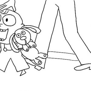 Trixie And Her Bestfriend Knuffle Bunny Coloring Pages