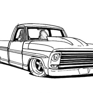 Truck Lowrider Cars Coloring Pages