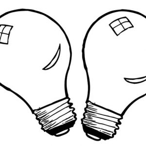 Twin Light Bulb Coloring Pages