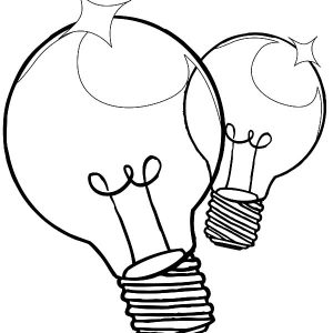 Lightbulb3 Coloring Page