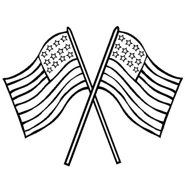 Us Flag Crossed On Flag Day Coloring Pages Download Print Online Coloring Pages For Free Color Nimbus