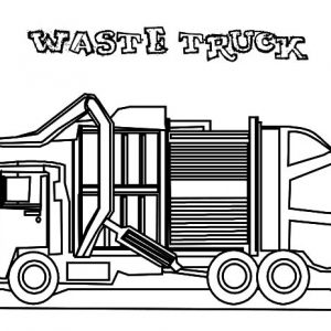 Waste Garbage Truck Coloring Pages