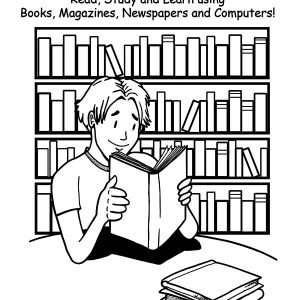 What Can I Do In A Library Coloring Pages