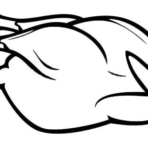 Whole Chicken Before Fried Coloring Pages
