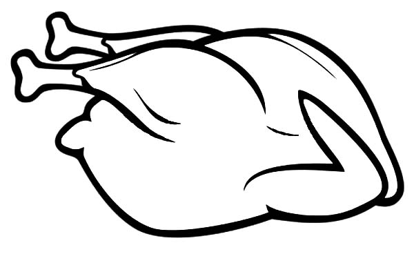 Whole Chicken Before Fried Coloring Pages Download Print Online