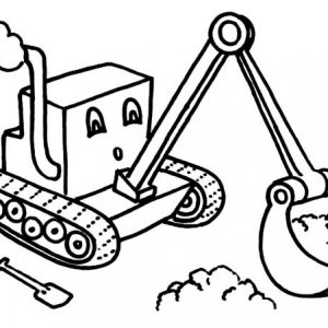 Little Digger Coloring Page