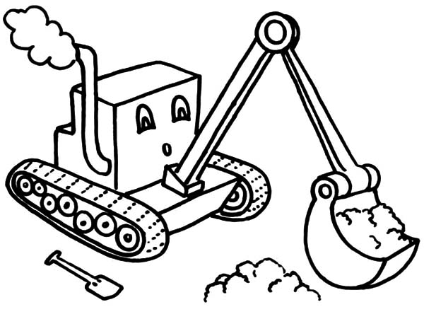 digger coloring pages Little Digger Coloring Page   Download & Print Online Coloring  digger coloring pages