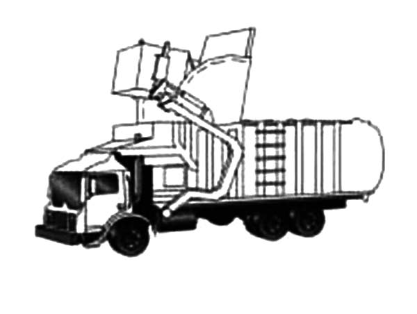 Recycling Garbage Truck Coloring Pages - Download & Print Online ... | 452x600