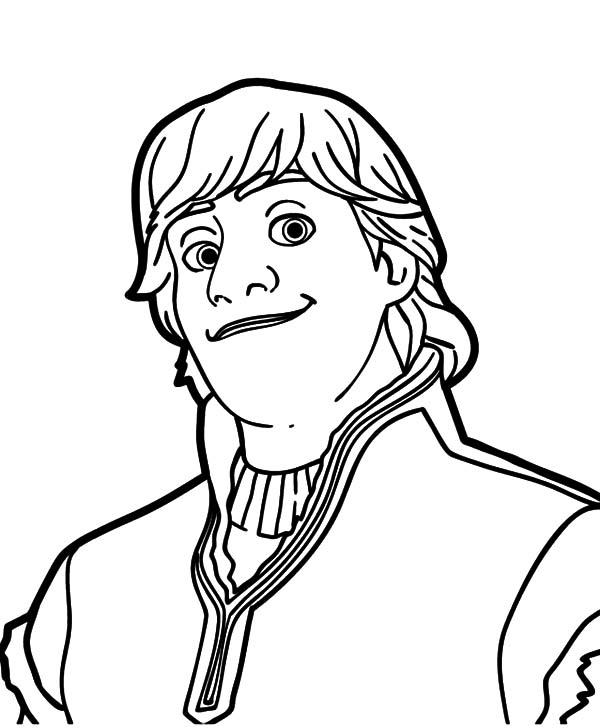 Kristoff Frozen Portrait Coloring Page Download Print Online