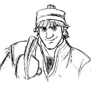 Kristoff Disney S Frozen Collab By Emisnowake D6t1vvd Coloring Page