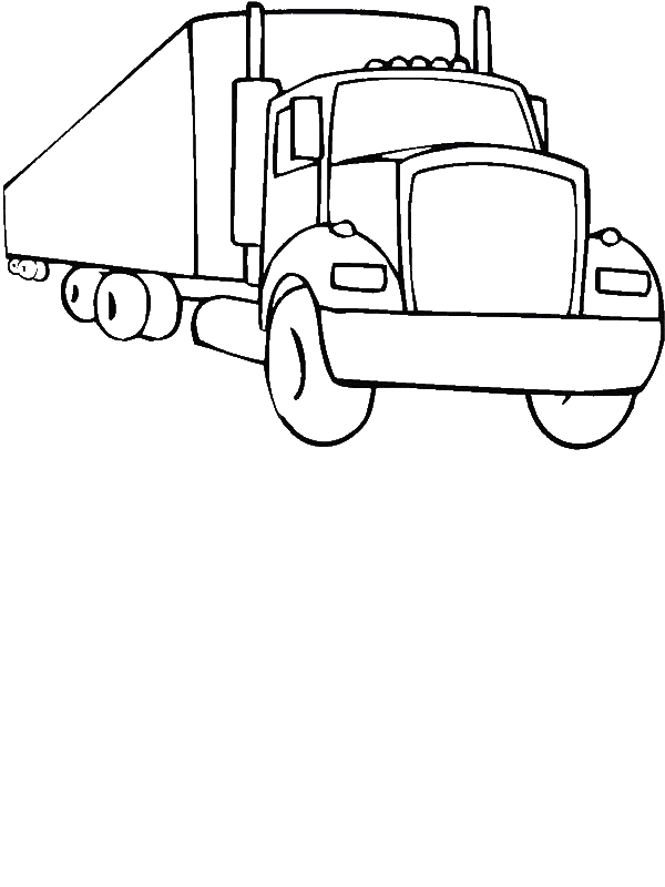 An 18 Wheeler Semi Truck Illustration Coloring Page By Years Old