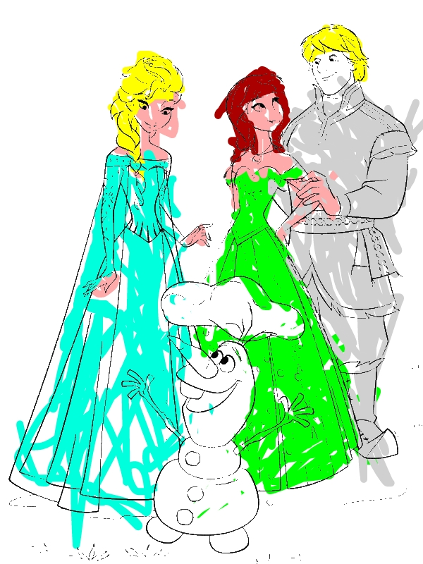 anna elsa olaf coloring pages - photo#20