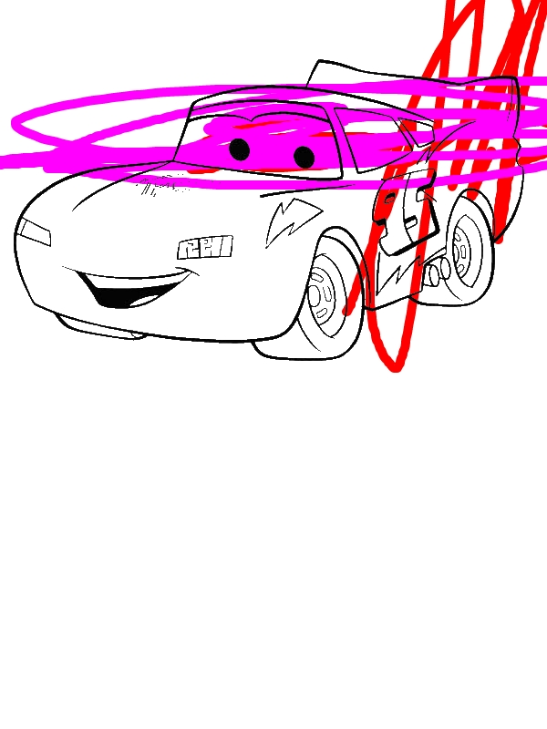 Awesome Lighting McQueen In Disney