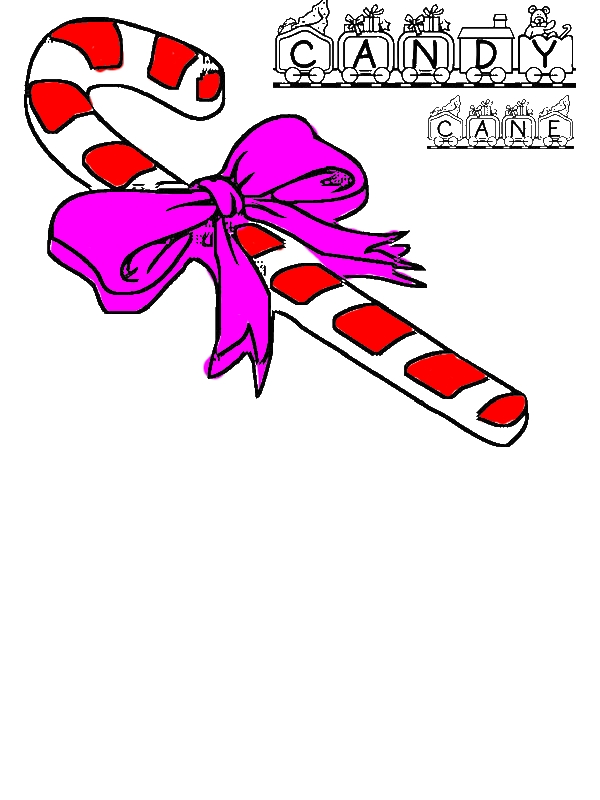 Beautiful Candy Cane Coloring Page - Download & Print ...
