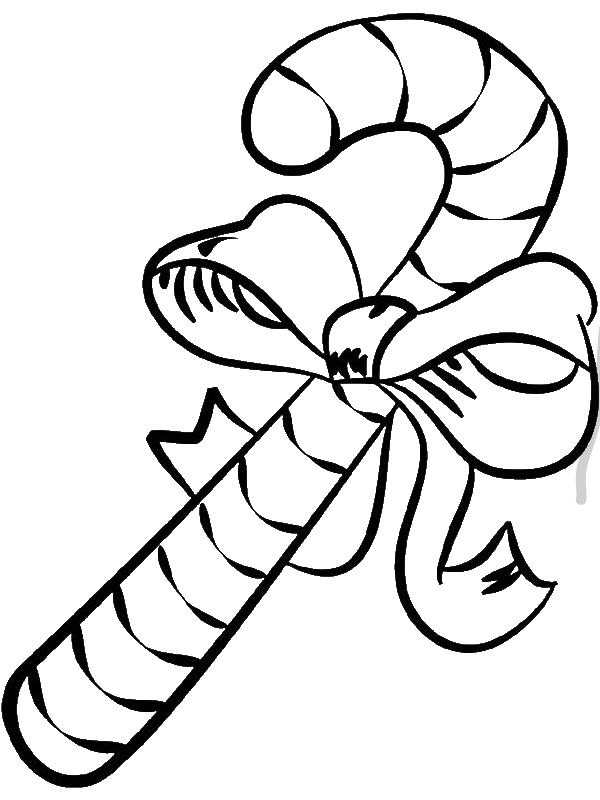 Big Candy Cane Coloring Page Download Print Online