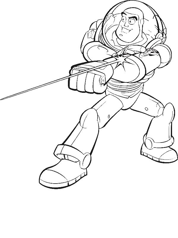Buzz Lightyear And His Awesome Laser In Toy Story Coloring
