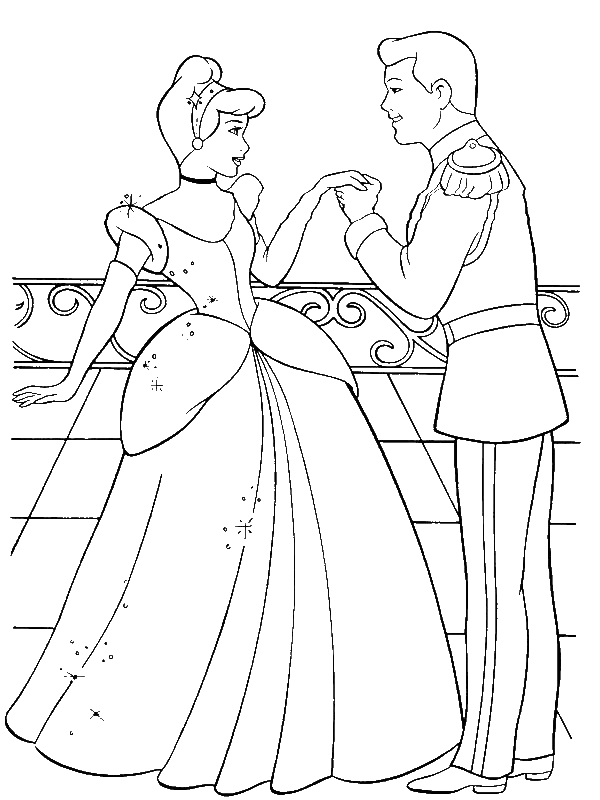 prince charming cinderella coloring pages - photo#14