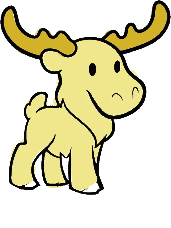 Cute Moose Coloring Page Download