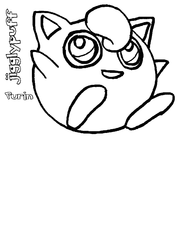 free jigglypuff coloring pages - photo#7