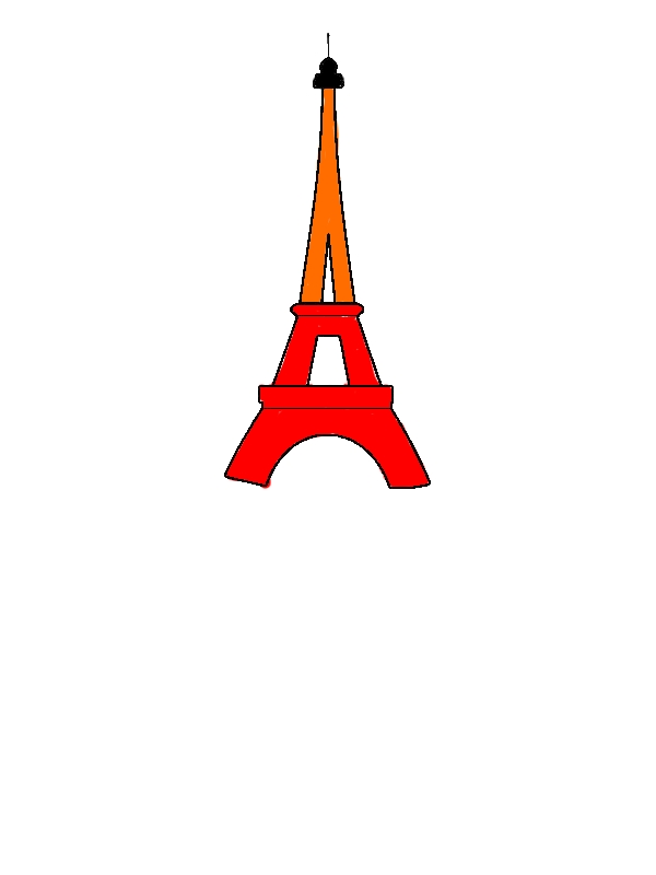 Eiffel Tower Outline Coloring Page - Download & Print ...