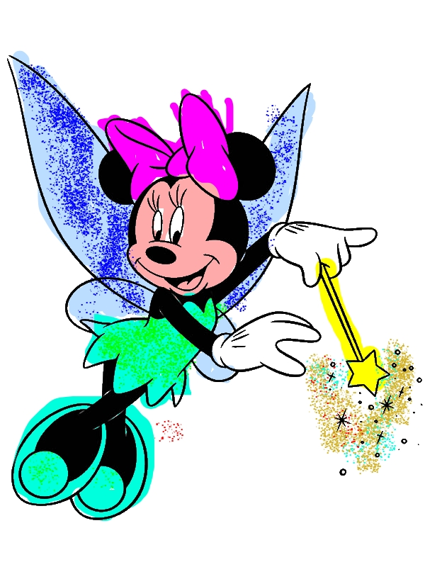 Fairy Minnie Mouse Coloring Page Download Amp Print Online