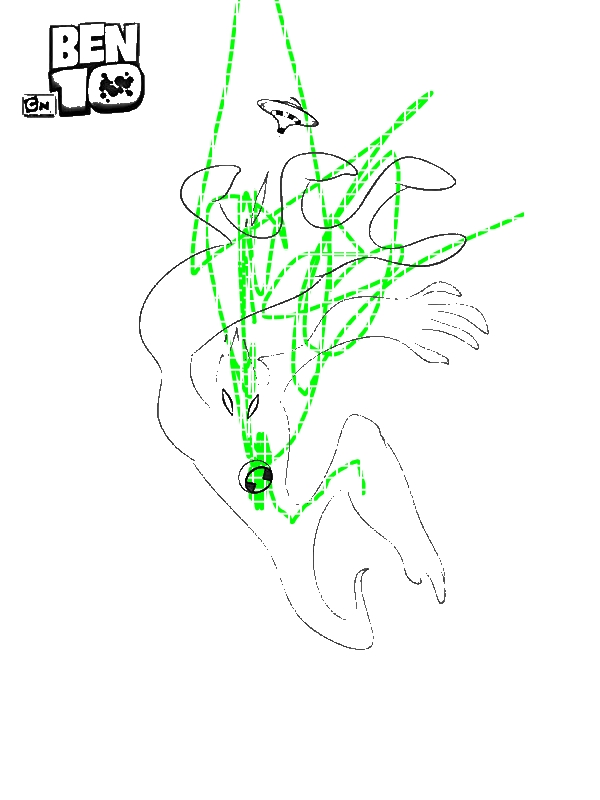 Goop From Ben 10 Alien Force Coloring Page - Download ...