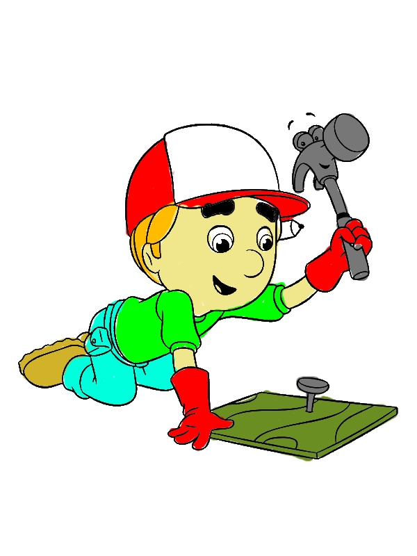 Handy Manny Using Pat The Hammer Coloring Page - Download & Print ...