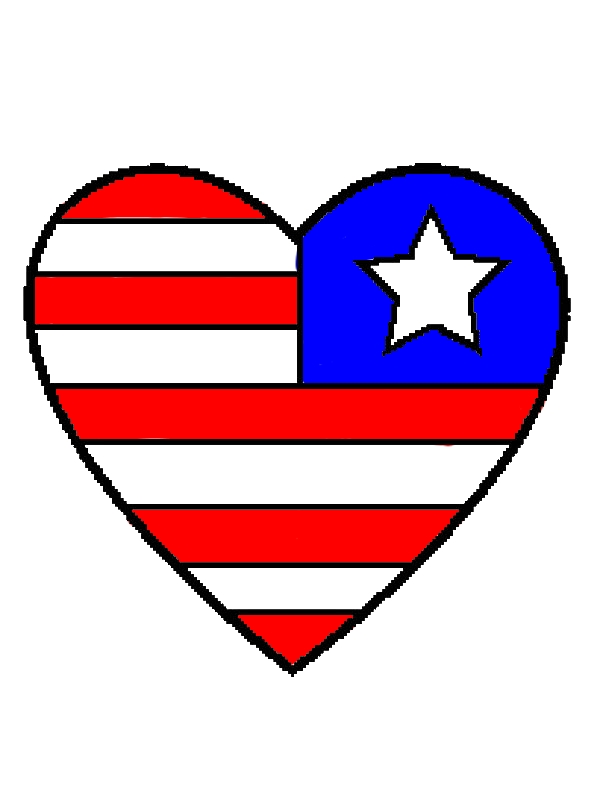 Heart Flag Day Coloring Pages by years old Cleo A Hawthorne