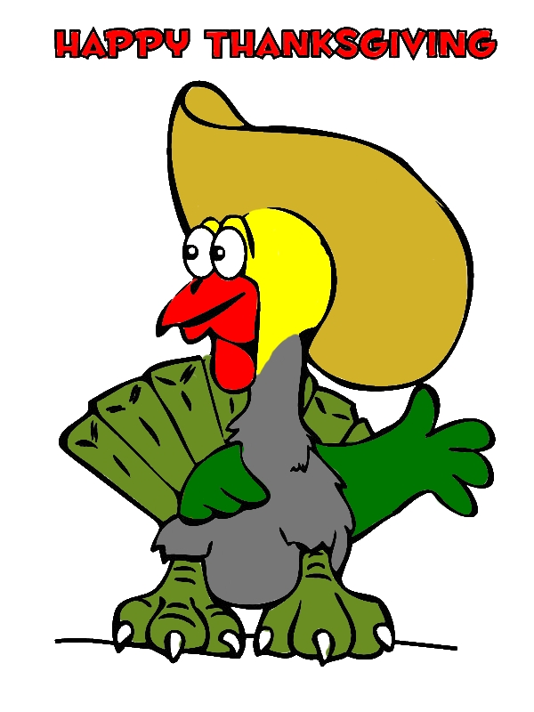 Hilarious Thanksgiving Day Turkey With Big Cowboy Hat ...