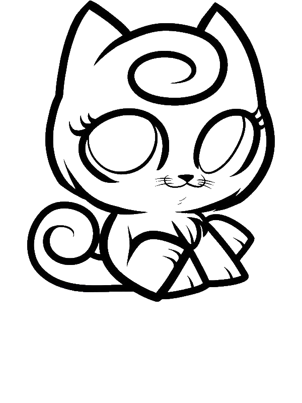 Jigglypuff Kitty Pokemon Coloring Page Download Print