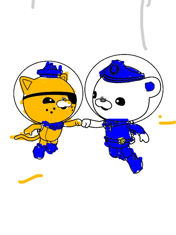 Octonauts Coloring Pages Kwazii And Captain Bar...