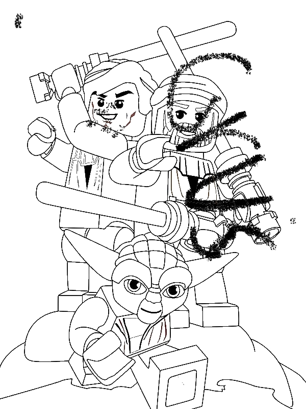 lego star wars coloring pages clone wars | Lego Star Wars Characters Coloring Page - Download & Print ...