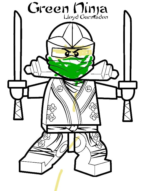 Lloyd Garmadon Ninjago Green Ninja Coloring Page Download Print
