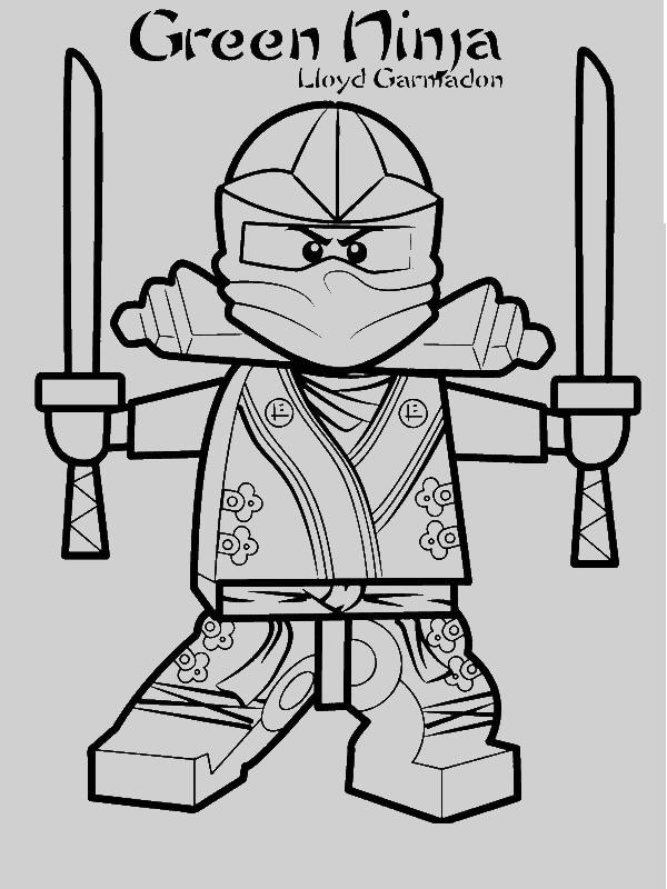 Lloyd Garmadon Ninjago Green Ninja Coloring Page - Download & Print ...