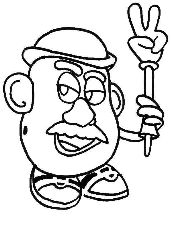 Mr potato head christmas coloring pages coloring pages for Christmas toy story coloring pages