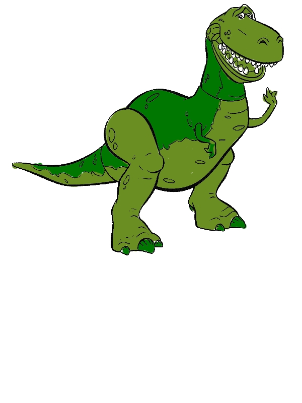 Meet Rex The T Rex In Toy Story Coloring Page By Years Old Moises A Elliott