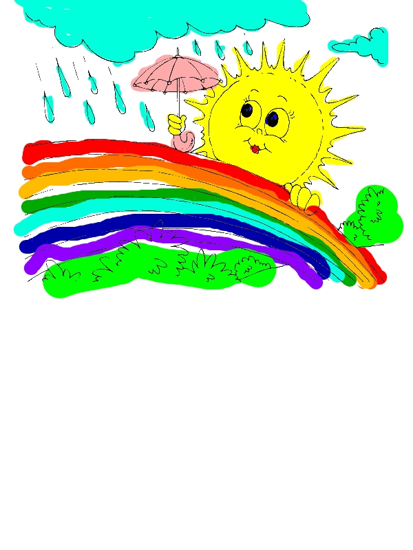 Mrs Sun Using Umbrella During A