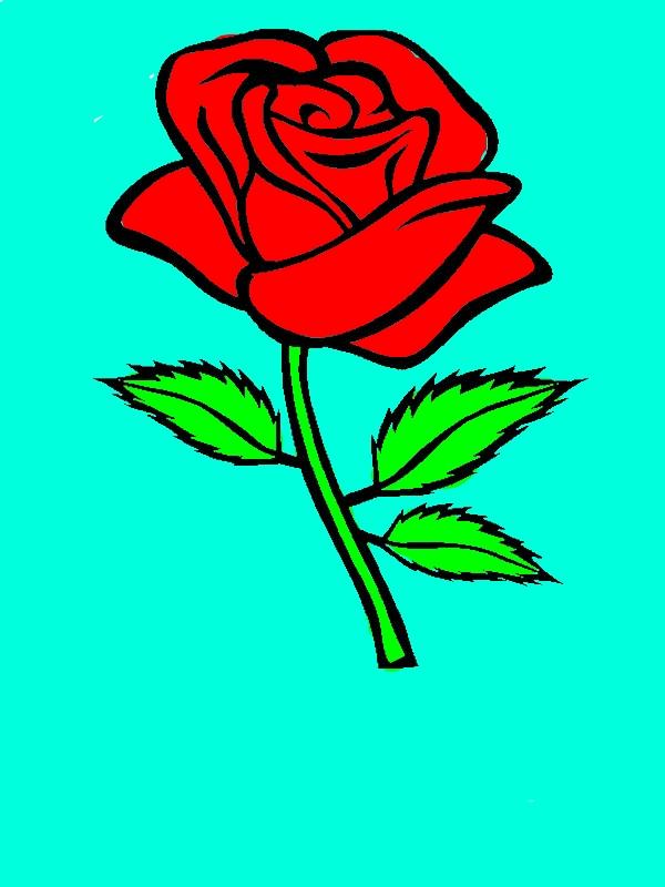 Роза рисунок для детей, фото волков