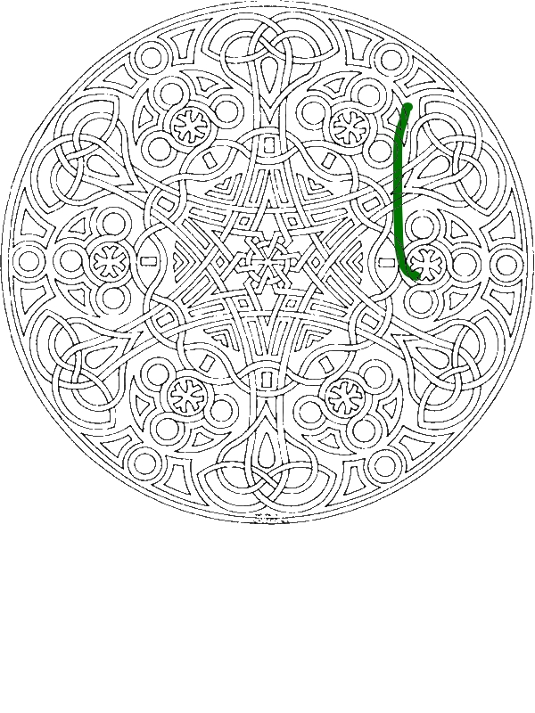 Sacred Geometry Mosaic Coloring Page Download Amp Print