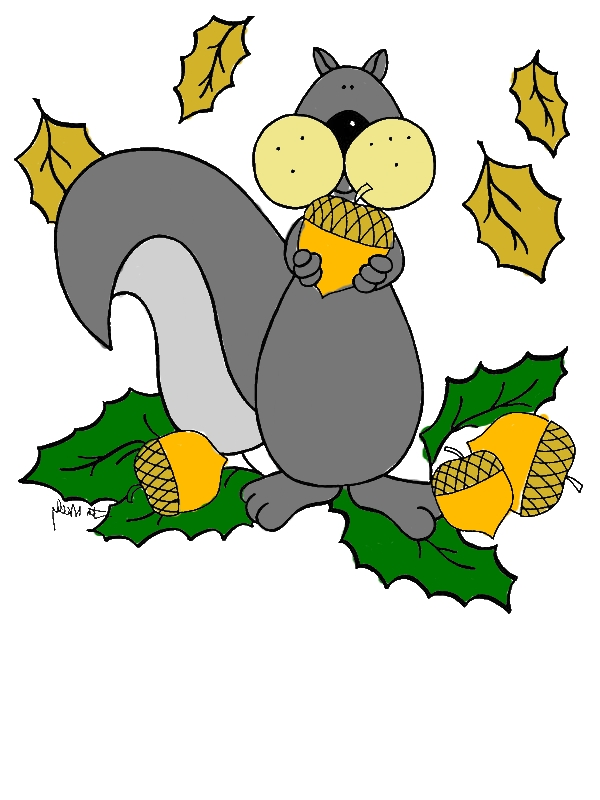 Squirrel Love To Eat Acorn Coloring Page - Download & Print Online ...