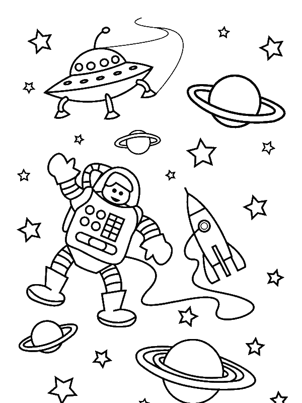 The Astronaut On The Outer Space