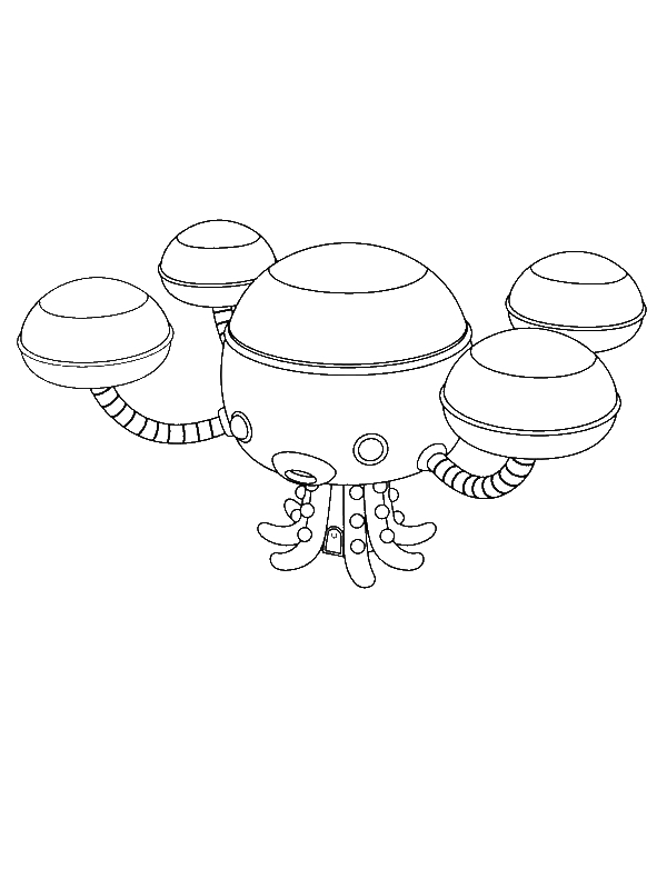 The Octopod From The Octonauts Coloring Page Download Print