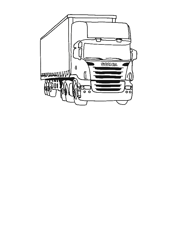 Tractor Trailer Semi Truck Coloring Page Download