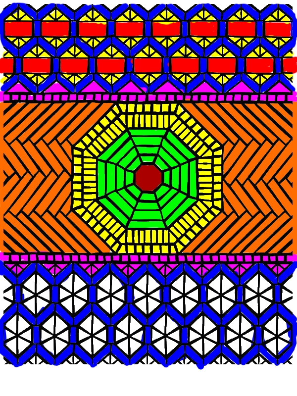 Traditional Pattern Mandala Mosaic Coloring Page ...